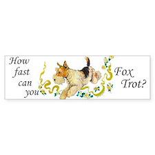Fox Terrier Frolic Bumper Car Sticker
