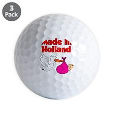Made In Holland Girl Golf Ball