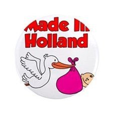 "Made In Holland Girl 3.5"" Button"