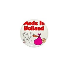 Made In Holland Girl Mini Button