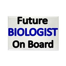 Future BIOLOGIST  on Board Rectangle Magnet