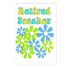 retired teacher retro flo Postcards (Package of 8)