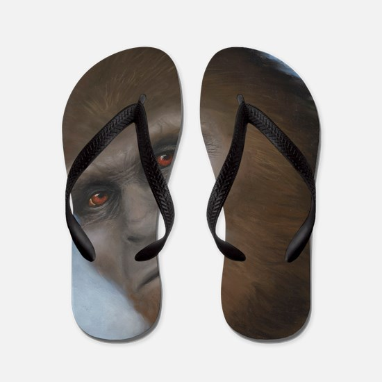 Sasquatch: The Unexpected Encounter Flip Flops