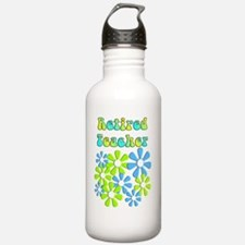 retired teacher retro  Water Bottle