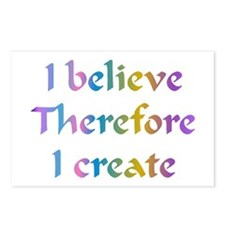 I Believe Therefore Postcards (Package of 8)
