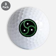 BDSM Symbol - Emblem - Green Golf Ball