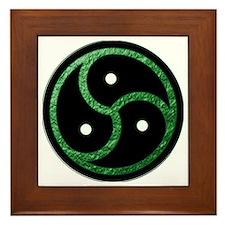BDSM Symbol - Emblem - Green Framed Tile
