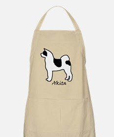 Black and white pinto Akita Apron