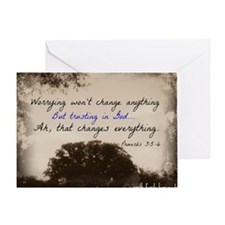 Worrying2 Greeting Card