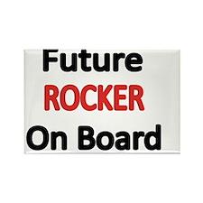 Future ROCKER  on Board Rectangle Magnet