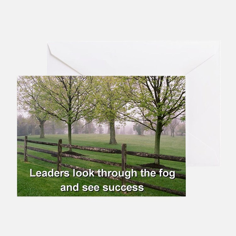 Leaders look through the fog and see Greeting Card
