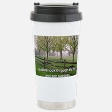 Leaders look through th Travel Mug