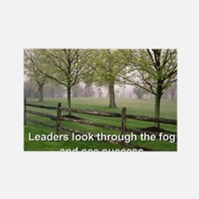 Leaders look through the fog and  Rectangle Magnet