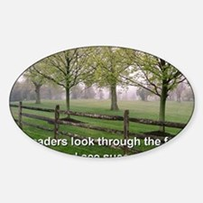 Leaders look through the fog and se Sticker (Oval)