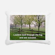 Leaders look through the Rectangular Canvas Pillow
