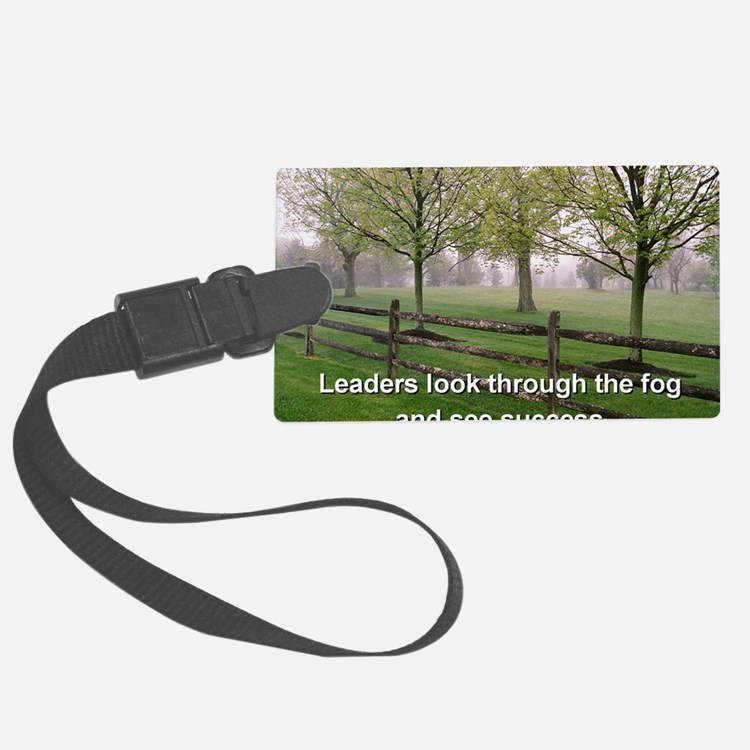 Leaders look through the fog and Luggage Tag