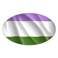 Genderqueer Flag Decal