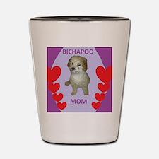 BICHAPOO MOM w/HEARTS Shot Glass