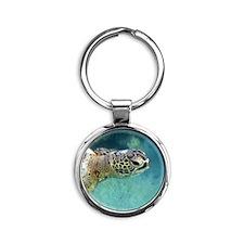 Sea Turtle Round Keychain