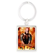 Painting Fire on the Air Portrait Keychain