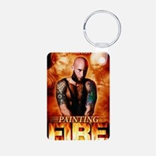Painting Fire on the Air Aluminum Photo Keychain