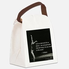 Voltaire Dance Quote Canvas Lunch Bag