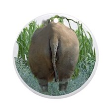 round rhino BF Round Ornament
