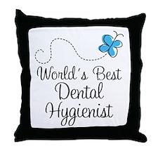 Dental Hygienist (World's Best) Throw Pillow