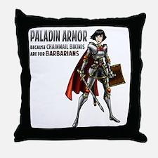 Paladin Armor Throw Pillow