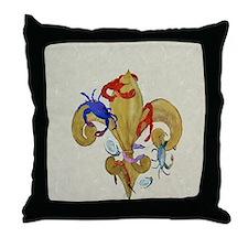Cajun fleur de lis Throw Pillow