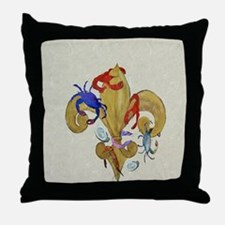 Cajun fleur de lis Throw Pillow
