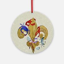 Cajun fleur de lis Round Ornament