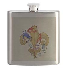 Cajun fleur de lis Flask