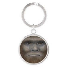 Bigfoot Round Keychain