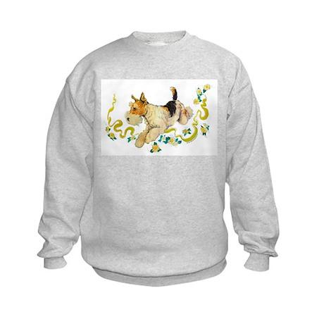 Fox Terrier Frolic Kids Sweatshirt
