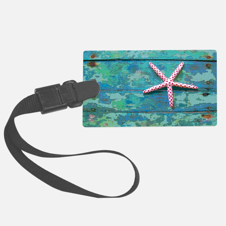 Starfish and Turquoise Luggage Tag