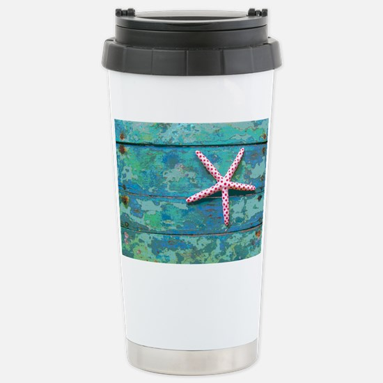 Starfish and Turquoise Stainless Steel Travel Mug