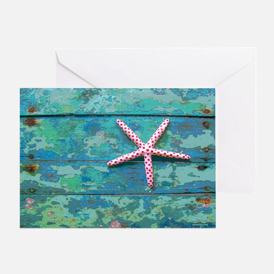 Starfish and Turquoise Greeting Card