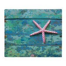 Starfish and Turquoise Throw Blanket