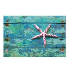 Starfish and Turquoise Postcards (Package of 8)