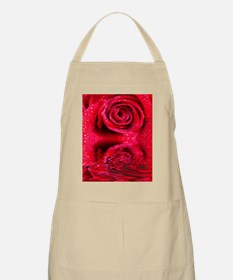 Reflections Of A Wet Red Rose Apron