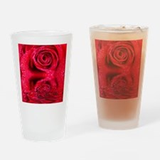 Reflections Of A Wet Red Rose Drinking Glass