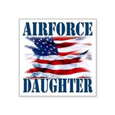 "Airforce Daughter Square Sticker 3"" x 3"""