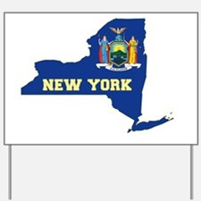 New York State Flag Map Yard Sign