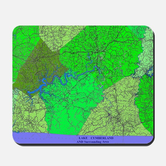 Lake Cumberland Map Mousepad
