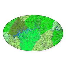 Lake Cumberland Map Decal