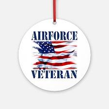 Airforce Veteran copy Round Ornament