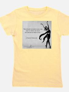 Nietche Dance Quote Girl's Tee