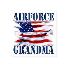 "Airforce Grandma Square Sticker 3"" x 3"""