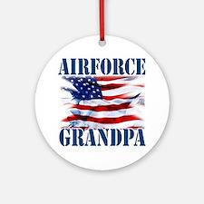 Airforce Grandpa Round Ornament